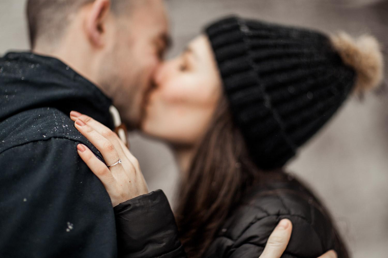 photographe mariage lyon montagne neige