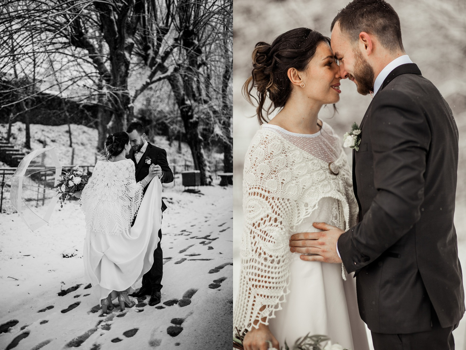 mariage hivernal neige domaine bellevue