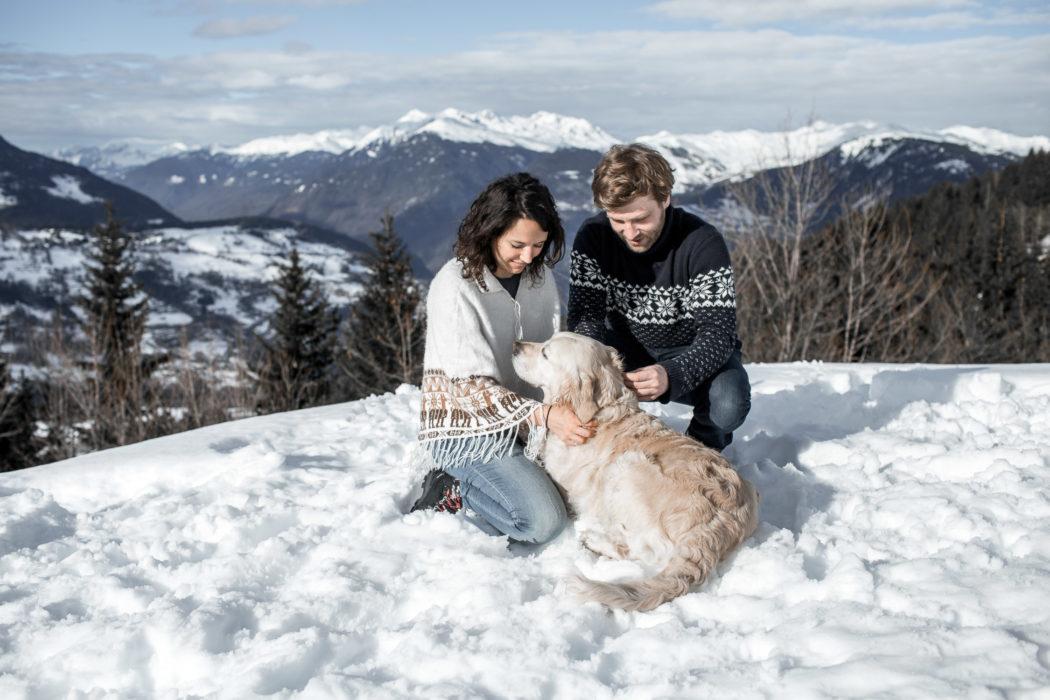 valmorel neige mariage engagement